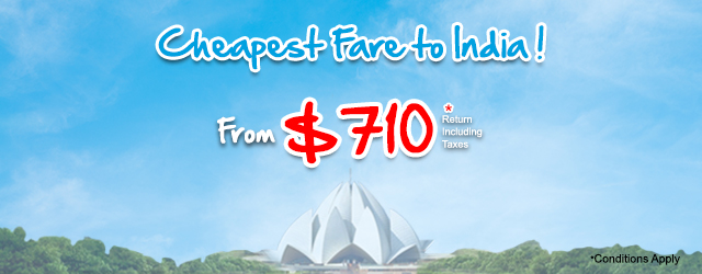 Cheapest Fare to India