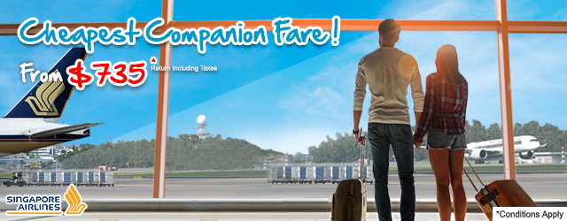 Cheapest Companion Airfares